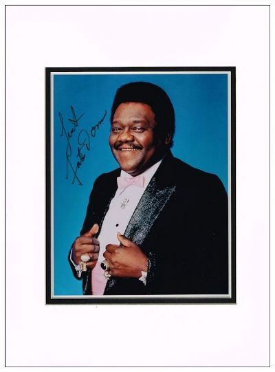 Fats Domino Autograph Signed Photo For Sale